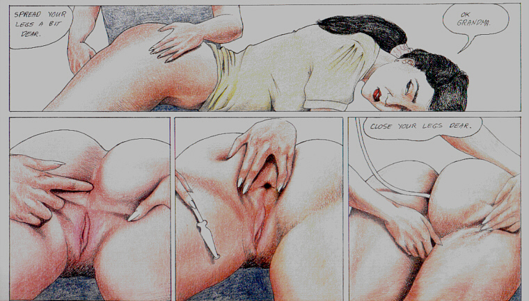 Bare bottom spanking drawings
